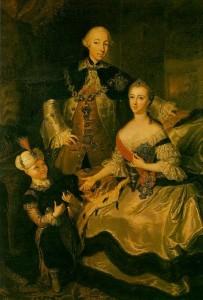 Catalina la Grande junto al zar Pedro III - Imagen de archivo