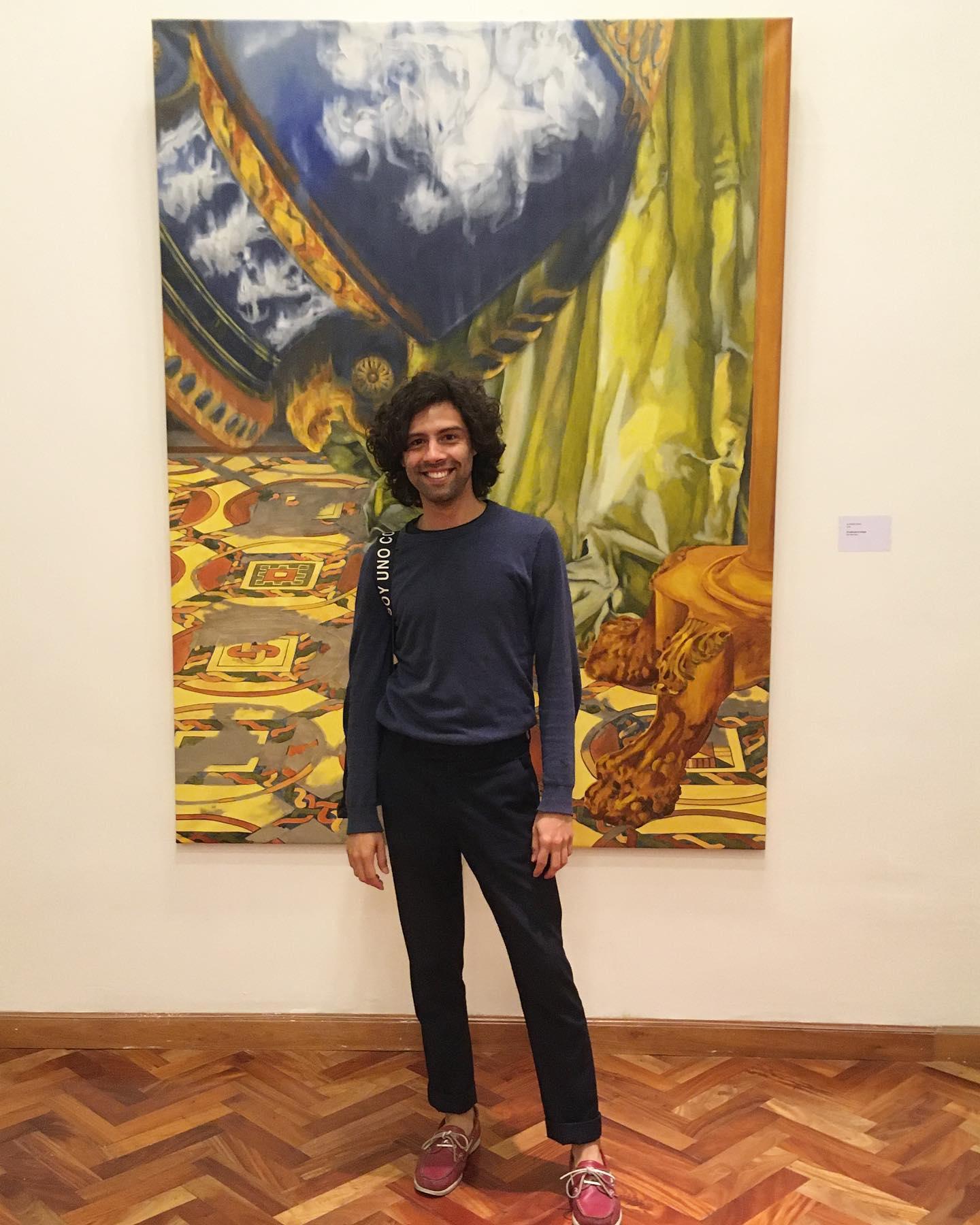 Alfredo Frías, premiado en Premio Nacional de Pintura Banco Central