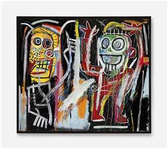 Christie´s 15 MAYO 2013, NUEVA YORK 2785 48.843.750,00 USD BASQUIAT, Jean-Michel. 1960-1988. DUSTHEADS. Acrílico, óleo, esmalte y pintura metálica s/ lienzo. Firmado y fechado 1982. 182.8 x 213.3 cm.