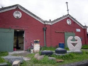 Talleres en la estación de ferrocarril