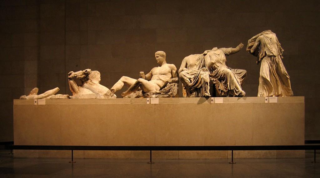 Detalle de los frisos del Partenón - Foto de archivo