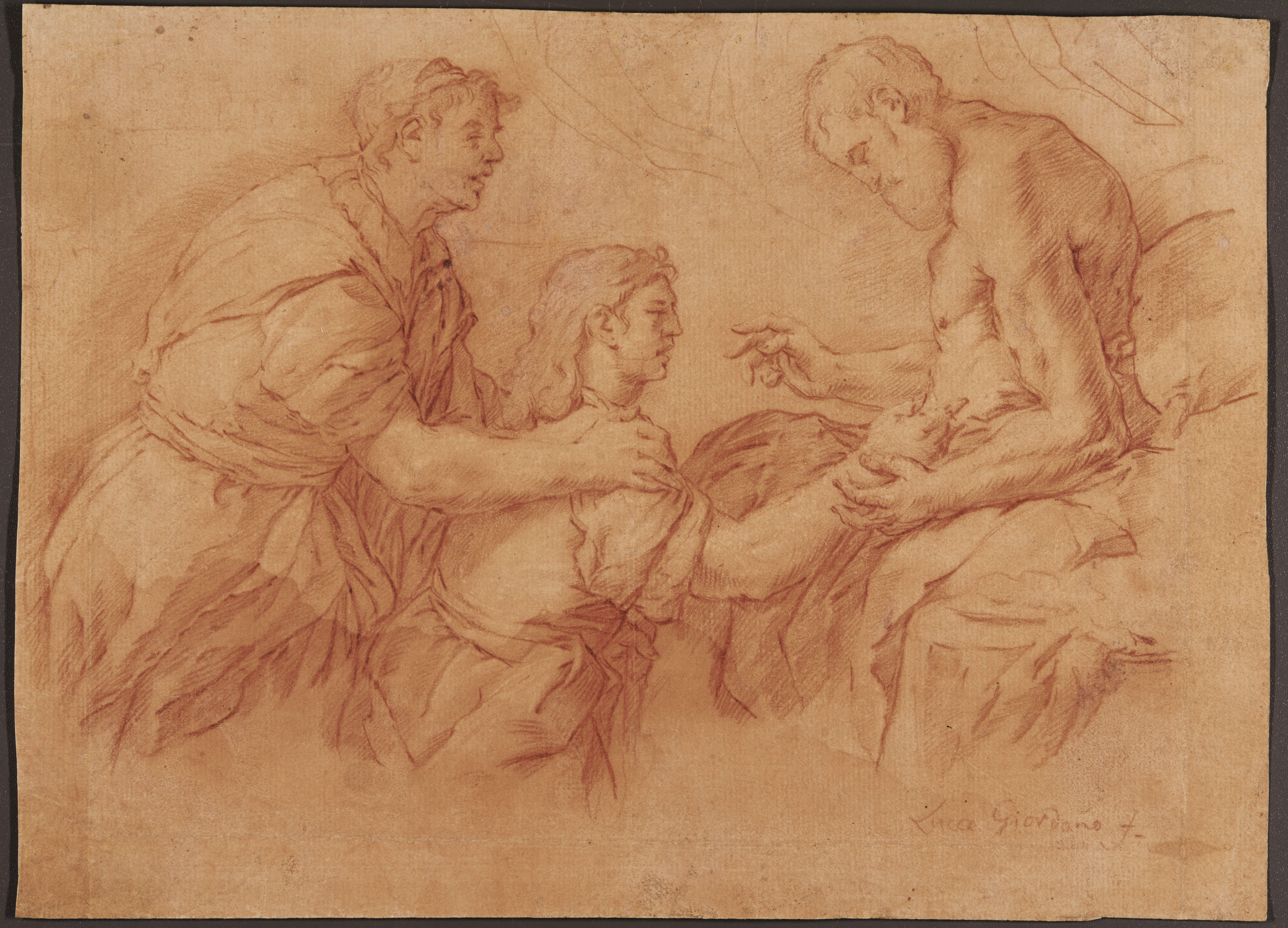 Obra adquirida 2 Isaac bendiciendo  a su hijo Jacob