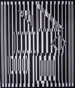 Victor Vasarely, Avall, 1975, óleo sobre tela, 192 x 164 cm.