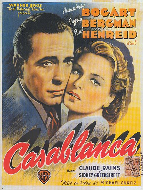 Un adelanto: el poster original del film Casablanca (1942) con Ingrid Bergman y Humphrey Bogart del director Michael Curtiz que abrirá el ciclo de cine a bordo - Foto Carmen Silveira