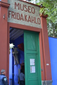 La entrada al Museo Frida Kahlo en la Casa Azul - Foto Carmen Silveira