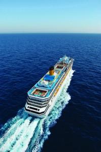 El Costa pacifica se acerca a Tenerife tras cruzar el Atlántico - Foto: gentileza Costa Cruceros