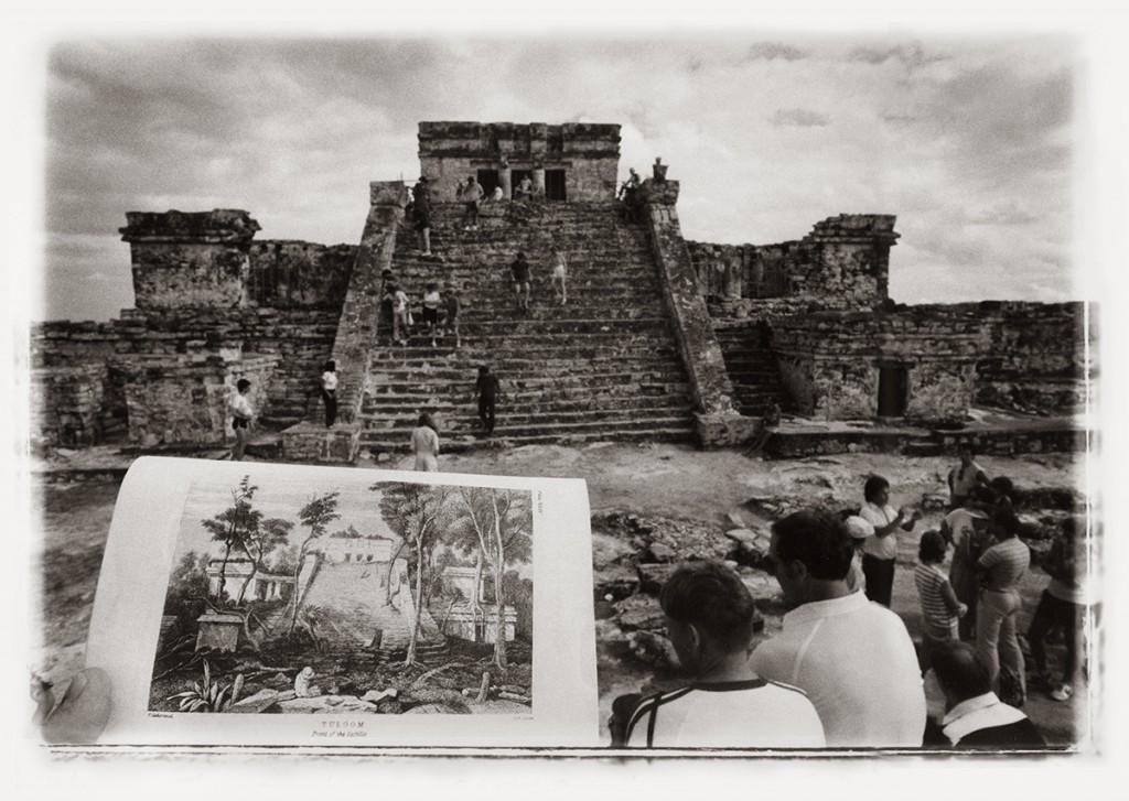 Leandro Katz. Tulúm after Catherwood [El Castillo] 1985