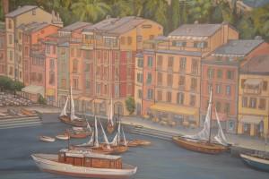 Golden Princess: Arte decorativo con paneles de neto sabor mediterráneo decoran los ámbitos varios de los ambientes de abordo - Foto Carmen Silveira